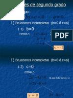 Propiedades de La Ecuacion Cuadratica