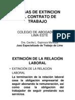 extinción de contrato