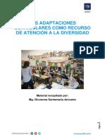 Las Adaptaciones Curriculares Como Recurso en El Tratamiento Educativo de La Diversidad
