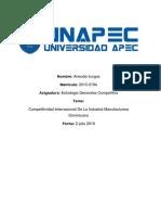 Competitividad Internacional de La Industria Manufacturera Dominicana Ensayo