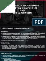 Compensation Management & Job Evaluation-ppt