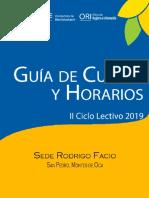 horario ucr I semestre 2019