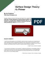 Web Design - Website Interface Design Theory - A Designer's Primer
