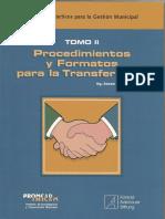 Procedimientos y Formatos para la Transferencia municipal - RCLAROS