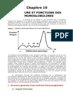 Chapitre 10 -Structure Et Fonctions Des Immunoglobulines