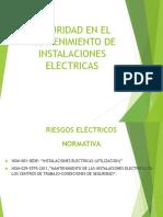 seguridad en el mantenimiento de las instalaciones electricas