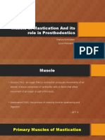 Muscle of Mastication and Its Role in Prosthodontics [Autosaved]