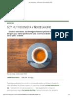 Soy Nutricionista y No Desayuno _ El Comidista EL PAÍS