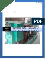 Procedimiento de Encendido de Grupo Electrogeno Del c.n.ica