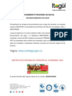 Procedimiento Programa de Becas Sac Master Nov11 de 2016