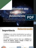 O universo e sua composição fundamental