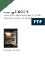 Refrigeración - Wikipedia, La Enciclopedia Libre