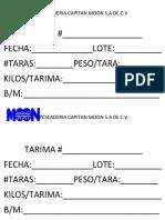 PAPELETA TARIMA