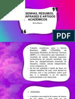 Resenhas, Resumos, Paráfrases e Artigos Acadêmicos (1)