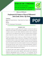 Transformación de la Proteína en el Proceso de Elaboración de Jamón Curado, Serrano o Tipo Serrano