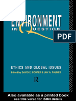 The Environment in Question Ethics and Global Issues