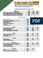 Lista de Precios Instructores 2018