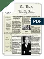 Newsletter Volume 10 Issue 27