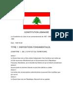 Constitution Du Liban