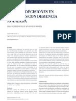 Toma de Decisiones en Pacientes Con Demencia Avanzada