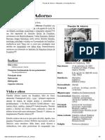 Theodor W. Adorno – Wikipédia, A Enciclopédia Livre