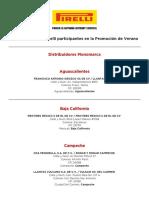 Puntos de Venta Pirelli Participantes en La Promocio n de Verano 4505512279803