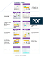 2019-2020 lavca student calendar