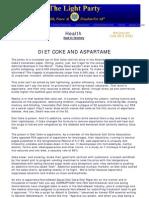 Diet Coke and Aspartame