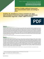 Análise de resistência à força cortante em lajes sem armadura transversal sob cargas parcialmente distribuídas segundo a ABNT NBR 6118:2014