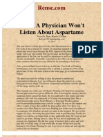 When a Physician Won't Listen About Aspartame