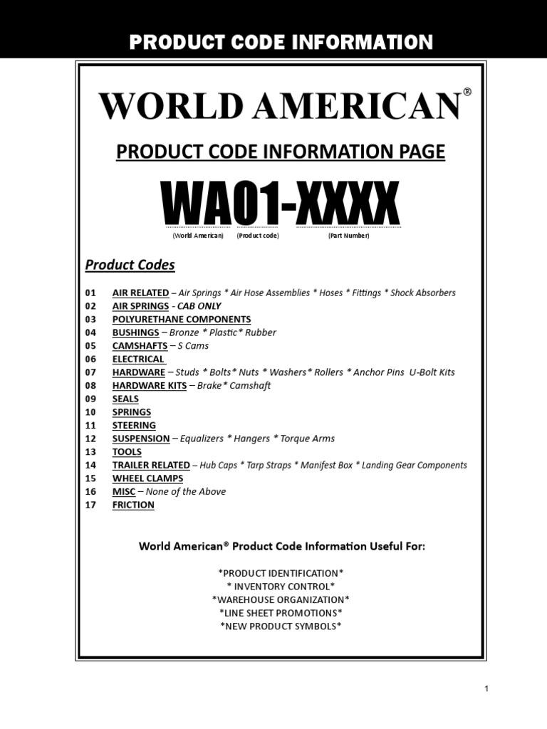 World American WA05-5172 Right Hand Trailer Axle Camshaft