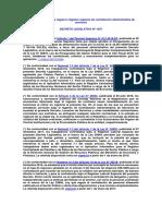 Ecreto Legislativo Que Regula El Régimen Especial de Contratación Administrativa de Servicios