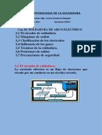 TECNOLOGIA DE LA SOLDADURA CAP III 2014-I SOLDADURA DE ARCO ELECTRICO.docx