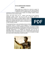 Lista de Emperadores Romanos