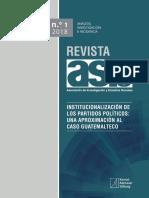 Revista 1 18 Institucionalizacion de Los Particos Politicos Una Aproximacion Al Caso Guatemalteco