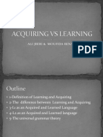 Acquiring vs Learning