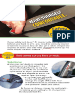 Safety Belt Comfort Card