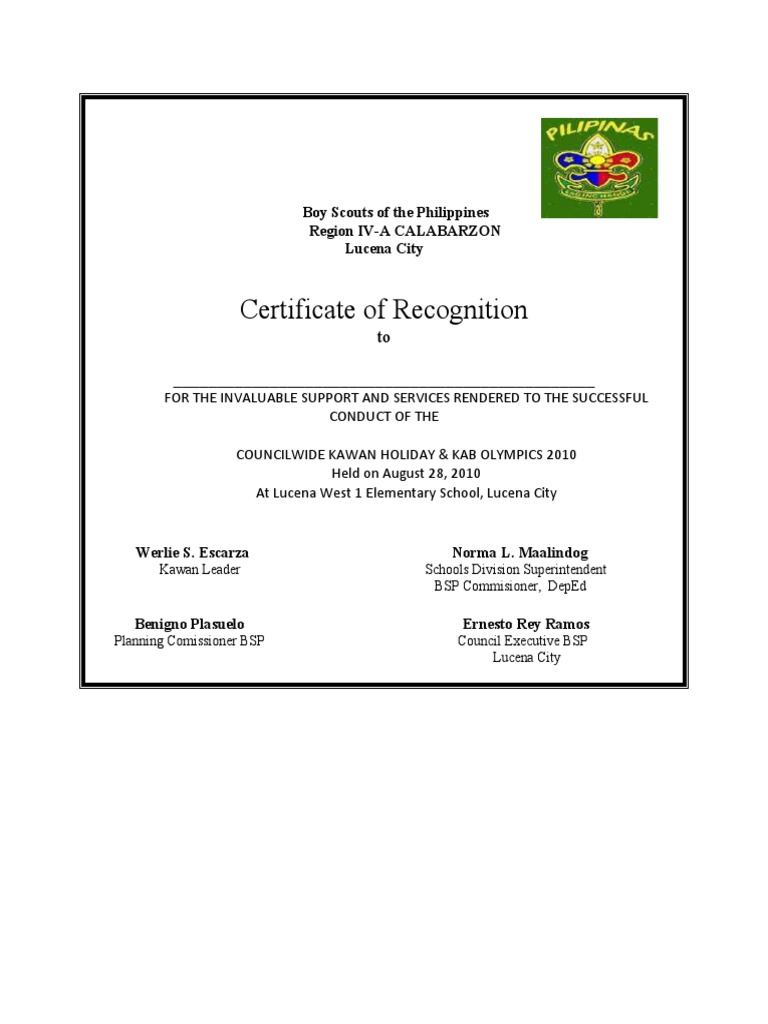 Boy scouts of the philippines certification yelopaper Choice Image