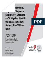 Facies, environments, Diagenesis, Sequence stratigraphy; stress and oil migration Model for the Bakken Petroleoum System of the williston Basin