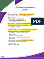 Programacion Semana Santa Chiclayo