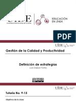 (9-15) Gestión de la Calidad y Productividad