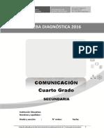 Evaluación diagnóstica COMUNICACIÓN - 4° GRADO v2