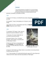 Cronología Internacional
