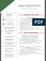 roth resume