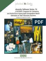IRRI Biodiversity Software Series. IV. EXTSPP1 and EXTSPP2
