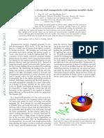 Hide the interior region of core-shell nanoparticles with quantum invisible cloaks