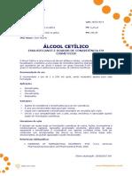 Ficha Tecnica - Alcool Cetilico