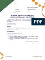 Ficha Tecnica - Alcool Cetoestearilico