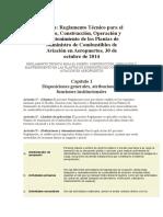 Reglamento Técnico Para El Diseño, Construcción, Operación y Mantenimiento de Las Plantas de Suministro de Combustibles de Aviación en Aeropuertos, 30 de Octubre de 2014