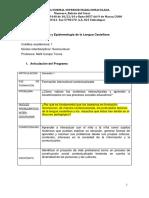 1er Sem., Prog. Hist. y Epist. de La Lengua Castellana